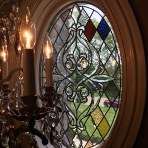 Private Residence Beveled & Clear Textured Window