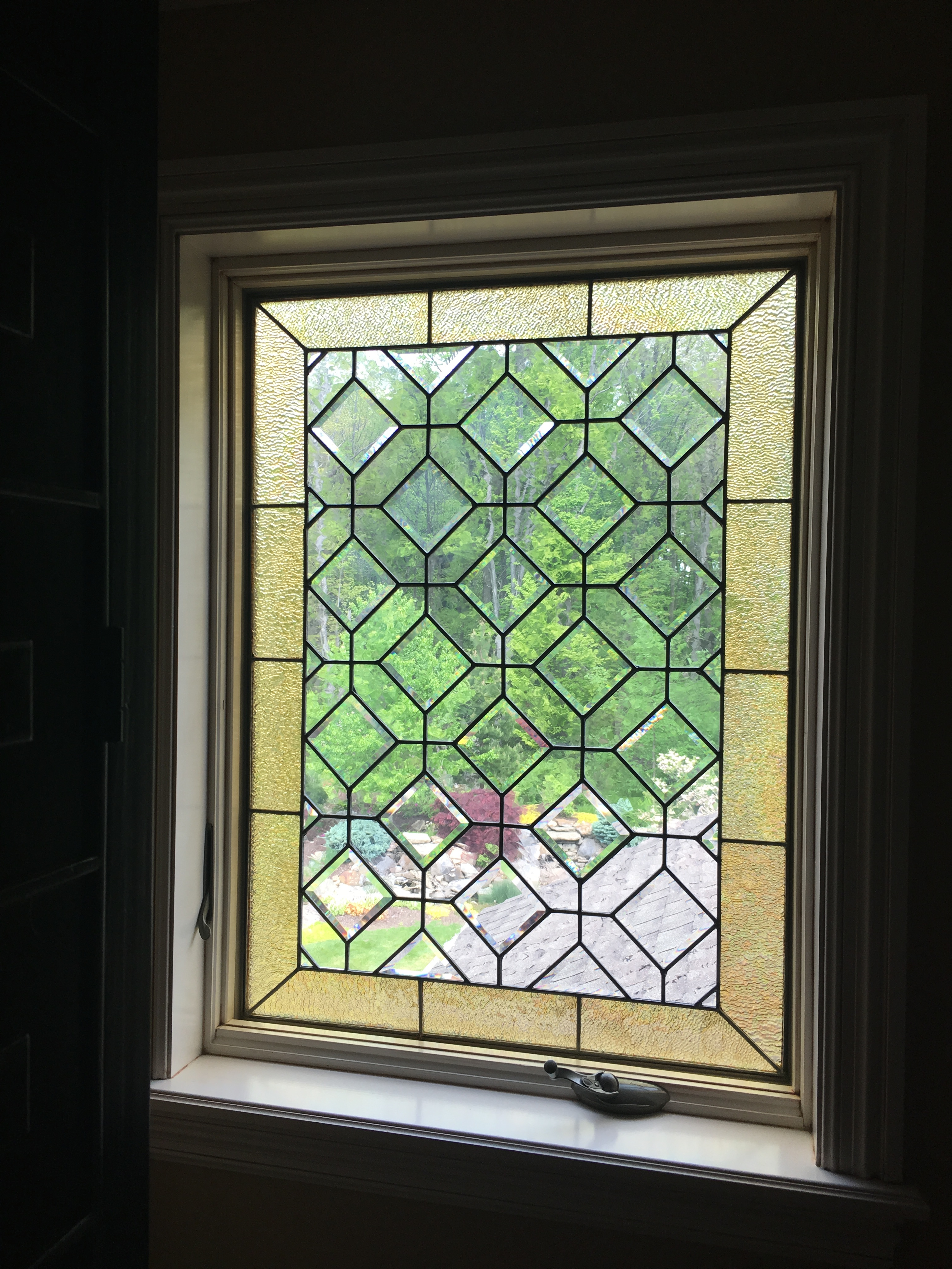Leaded glass repair near me antique stained glass landing for Windows and doors near me